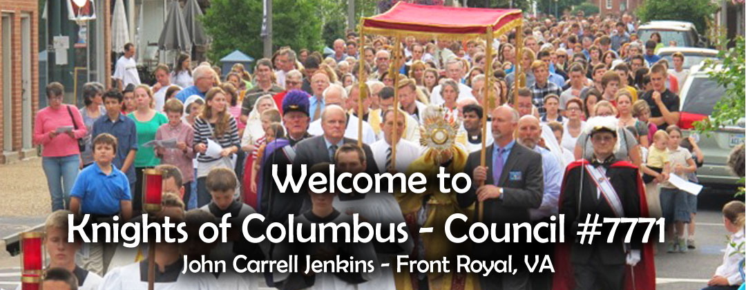 Welcome to Knights of Columbus Council #7771